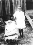 1910 Bertha Crowe & baby Garrett Lee Davenport