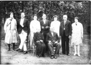 George Washington Crowe FamilyL-R Maggie, John, Addie, xx, Georgia, Finn, Bertha Seated: Mary King Crowe, George Washington Crowe