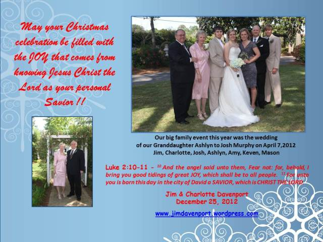 2012 Christmas Card for Family, Friends and Followers
