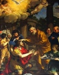 Paul's Sight Restored at the start of his ministry - 1631 Pietro De Cortano