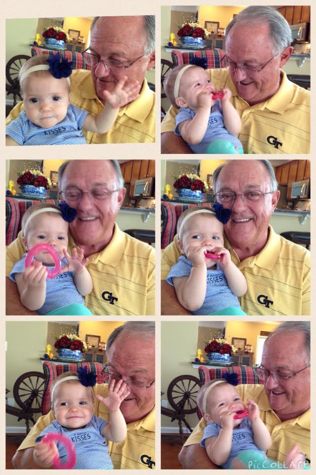 Papa and Rhory - can you tell Papa is HAPPY!!