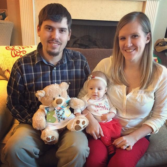 Ashlyn Josh Rhory and Sawyer's Bear 2014 Christmas