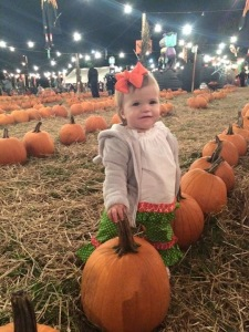 Rhory Selecting Her Pumpkin
