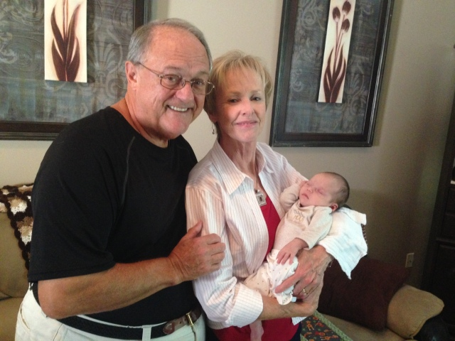 Rhory with Nana and Papa
