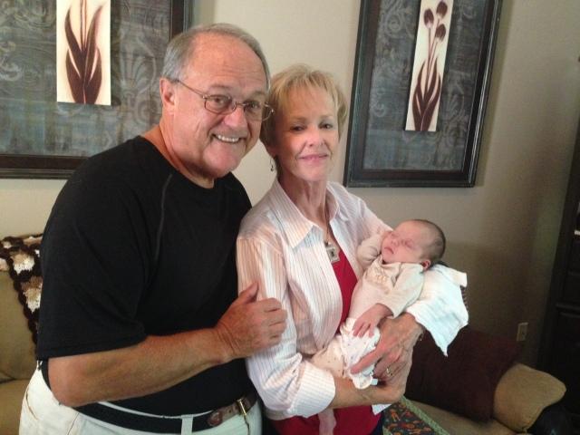 Rhory with Nana and Papa
