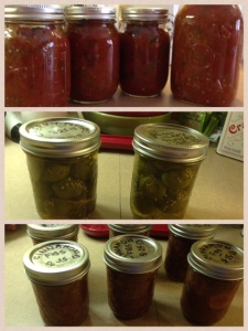 2013 Hot & Chunky Salsa, Sweet Cherry Peppers, Cinnamon Figs - 2013-08-26