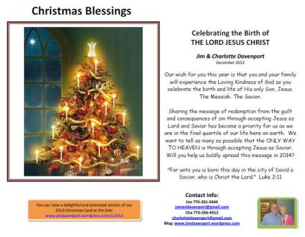 2013 Christmas Card 2