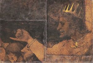 Rehoboam - Fragment of the wall painting in the Great Council Chamber of Basel Town Hall. - Hans Holbein the Younger (1498–1543)