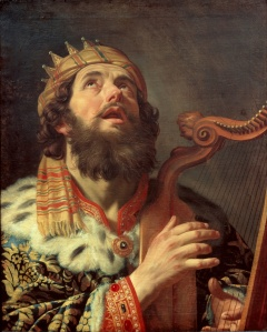 Gerard van Honthorst (1590–1656) - King David Playing The Harp