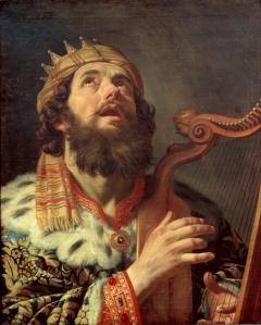 Gerard van Honthorst (1590–1656) - King David Playing The Harp