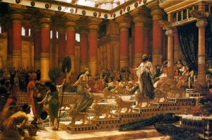 The Visit of the Queen of Sheba to King Solomon Painting by Edward Poynter 1890 – Public Domain